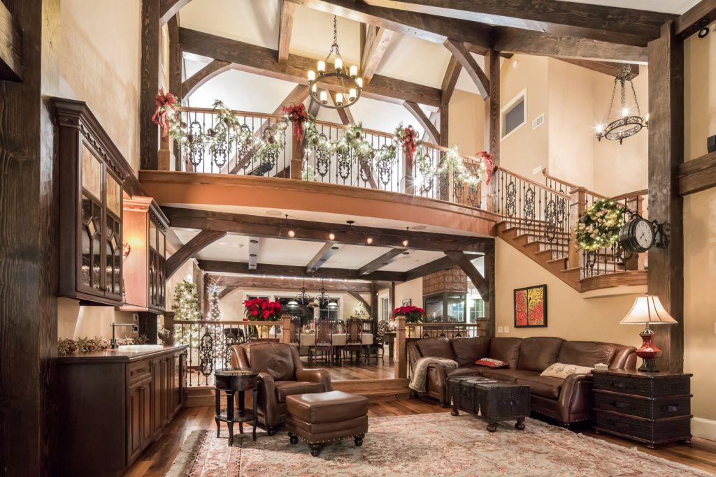 Amazing post and beam barn home!