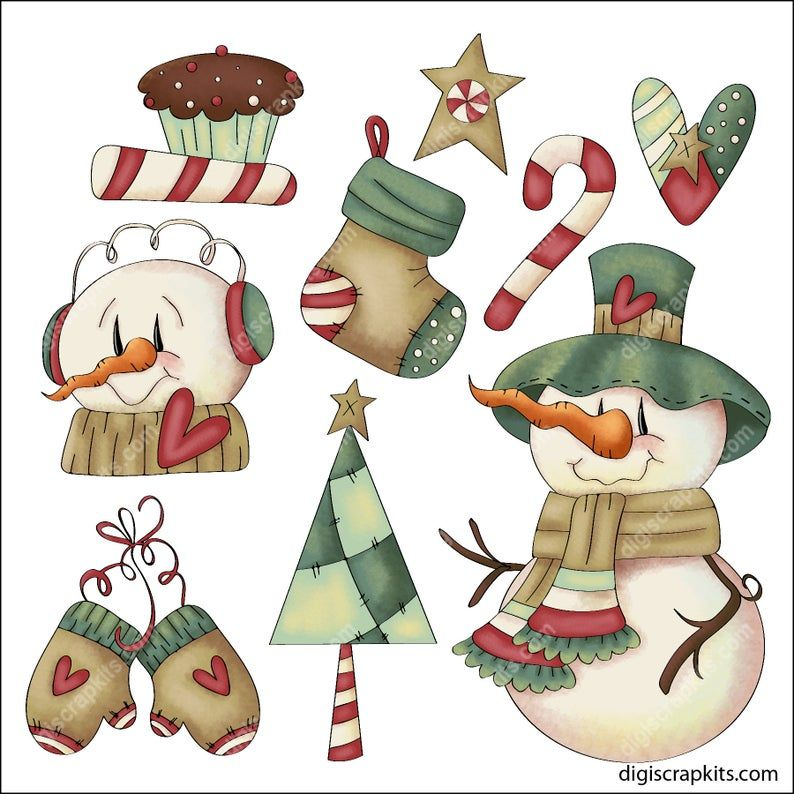 Frosty Christmas Clip Art Designs Graphics Illustrations Etsy Bunny Watercolor Clip Art Graphic Illustration
