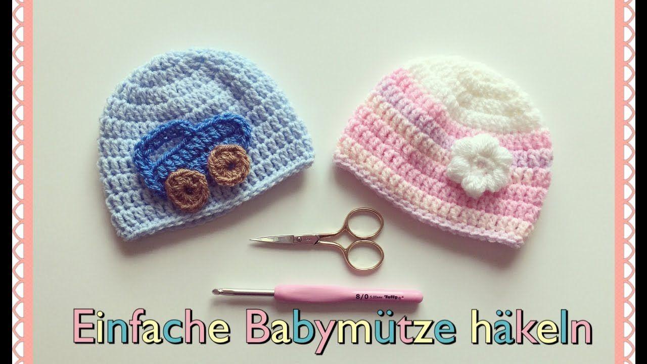 Super Einfache Babymütze 0 6 Monate Häkeln Für Anfänger Häkeln
