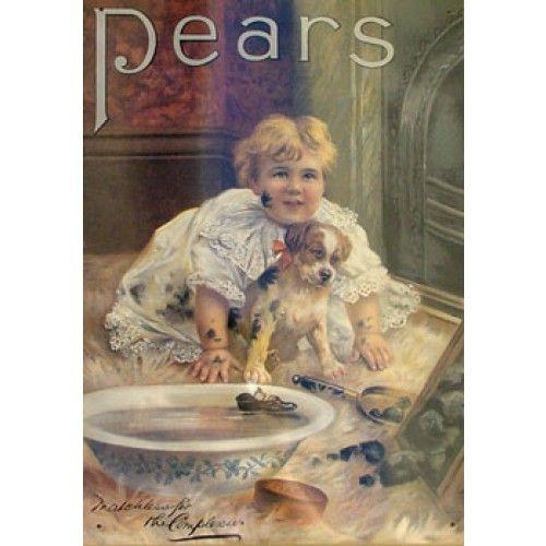 Pears Soap Girl Puppy Bathroom Tin Sign From Sarah J Of Sarah J Home