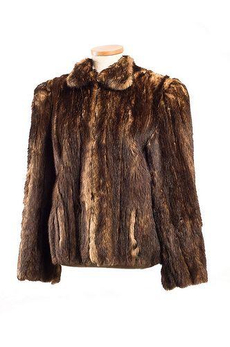Wolverine fur jacket. 1930s, J. Leventhal & Bro. Charleston Museum