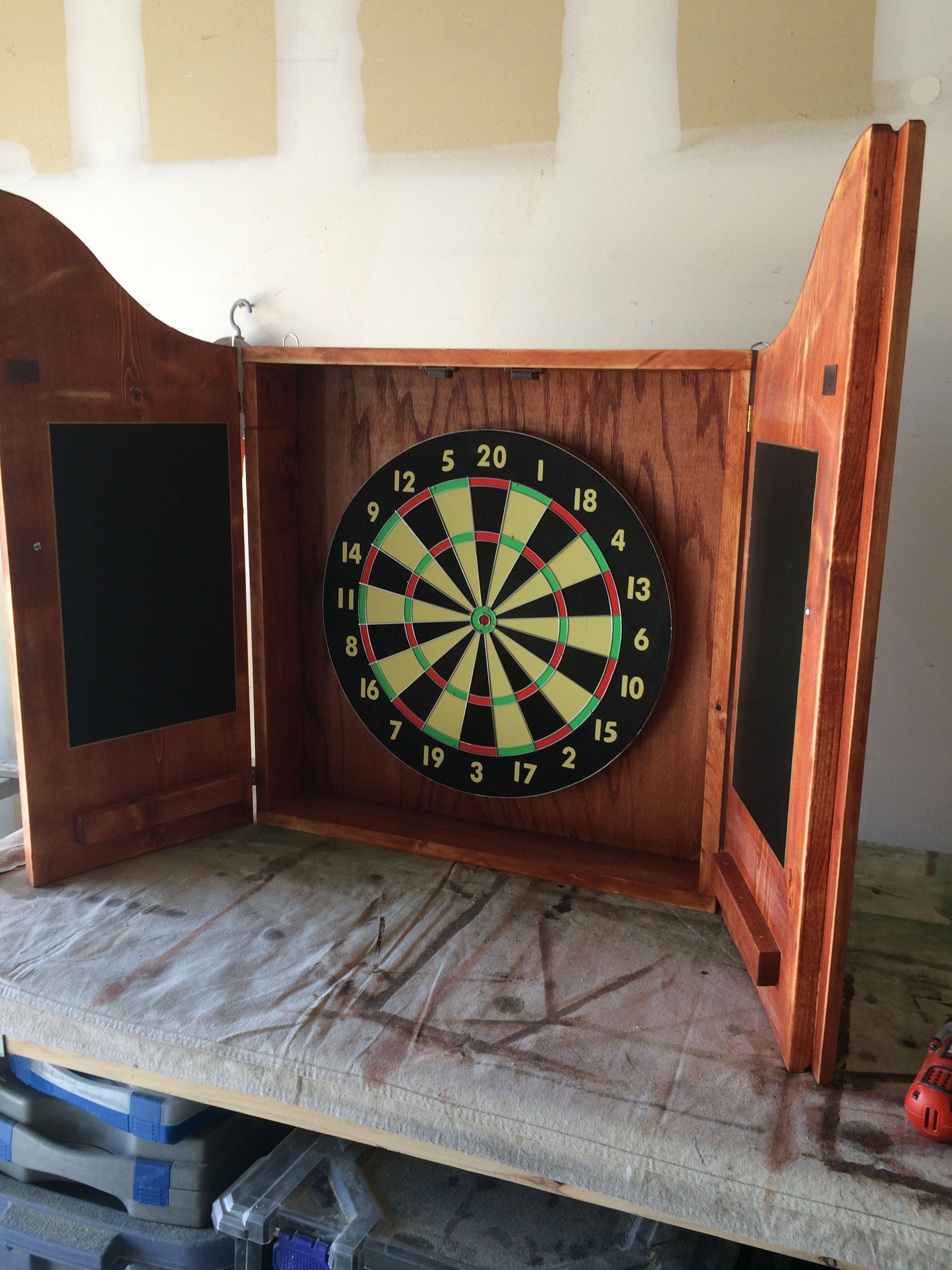 Dart Board Cabinet With Chalkboard Sherwood Oak Dartboard Cabinet Dart Board Cabinet Dart Cabinet