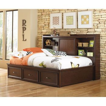 Full Day Horizontal Bed With Long And Tall Headboard Tons Of