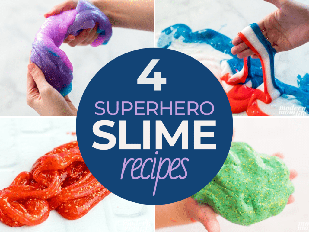 Four Superhero Slime Recipes In