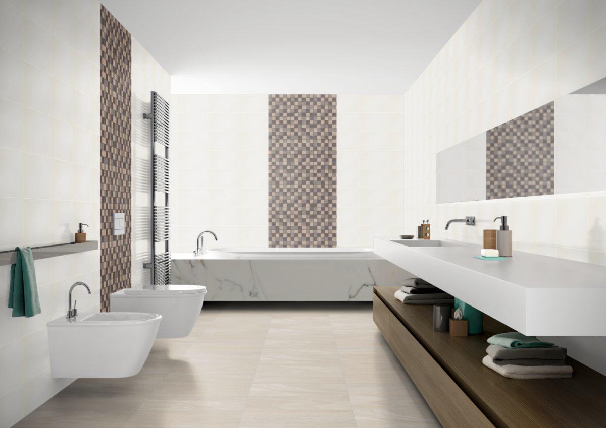 Ceramicstein Modern Fliesen Mosaik Inspiration Braun Beige