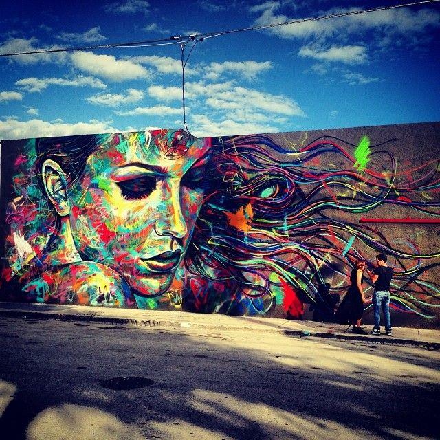 A beautiful shot of Davids Walker piece in Wynwood, Miami.