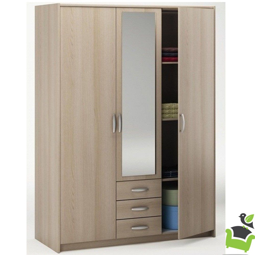 manhattan 3 door 3 drawer wardrobe blonde oak in 2019 baba rh pinterest com