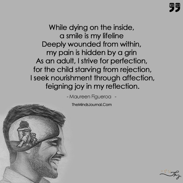 Hidden Suicidal Quotes: My Pain Is Hidden By A Grin