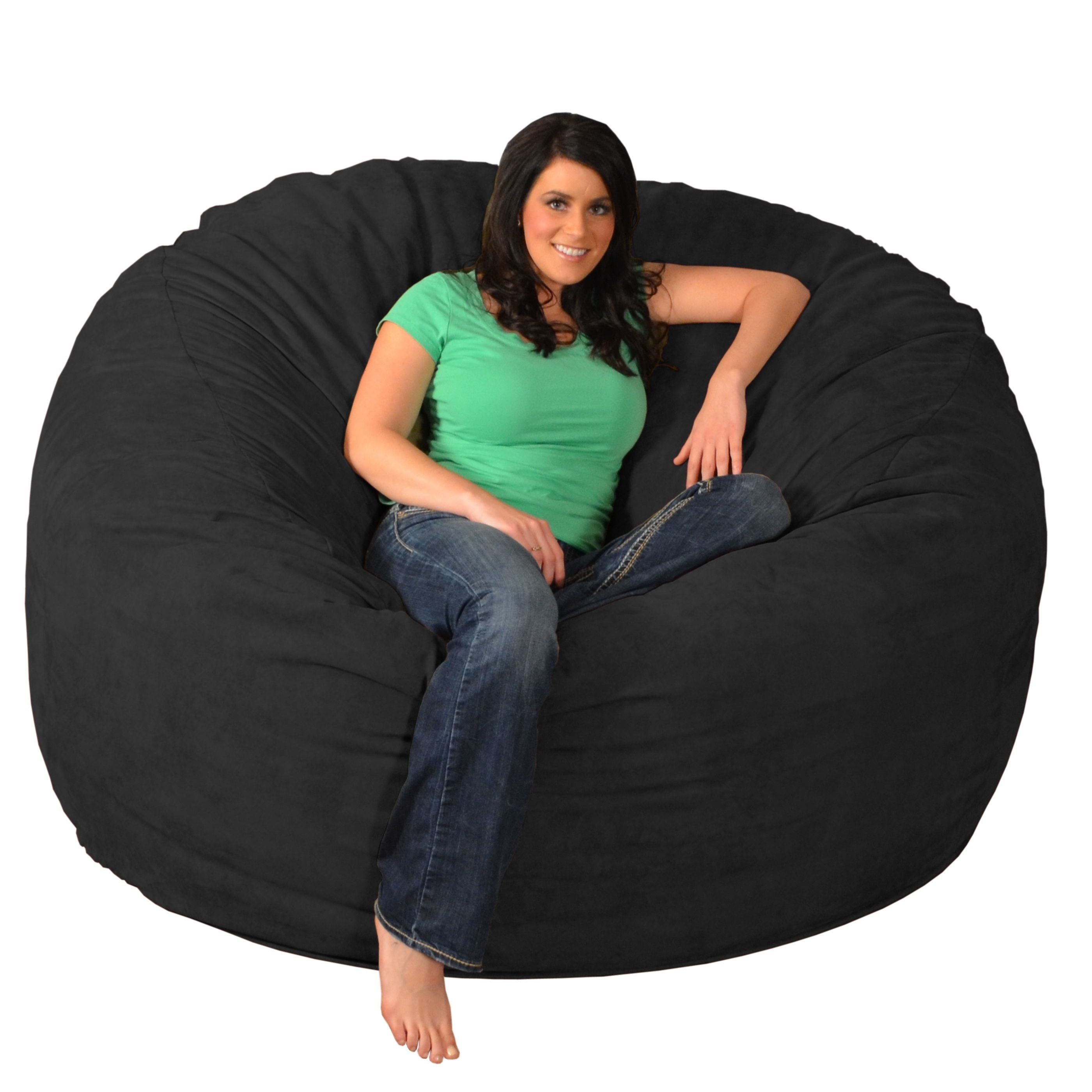 giant memory foam bean bag 6 foot chair products bean bag chair rh pinterest ca