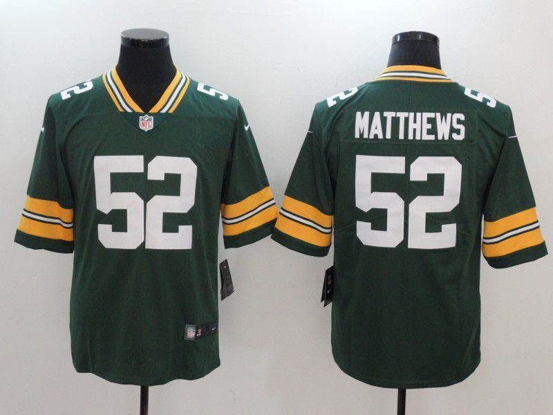 82c1963f7 Men Green Bay Packers 52 Matthews Green Nike Vapor Untouchable Limited NFL  Jerseys