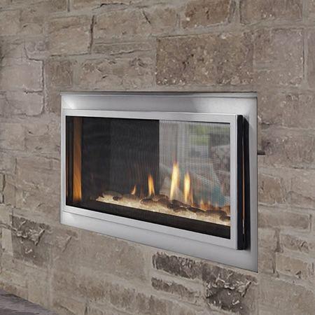majestic mezzanine indoor outdoor see through gas fireplace rh pinterest com
