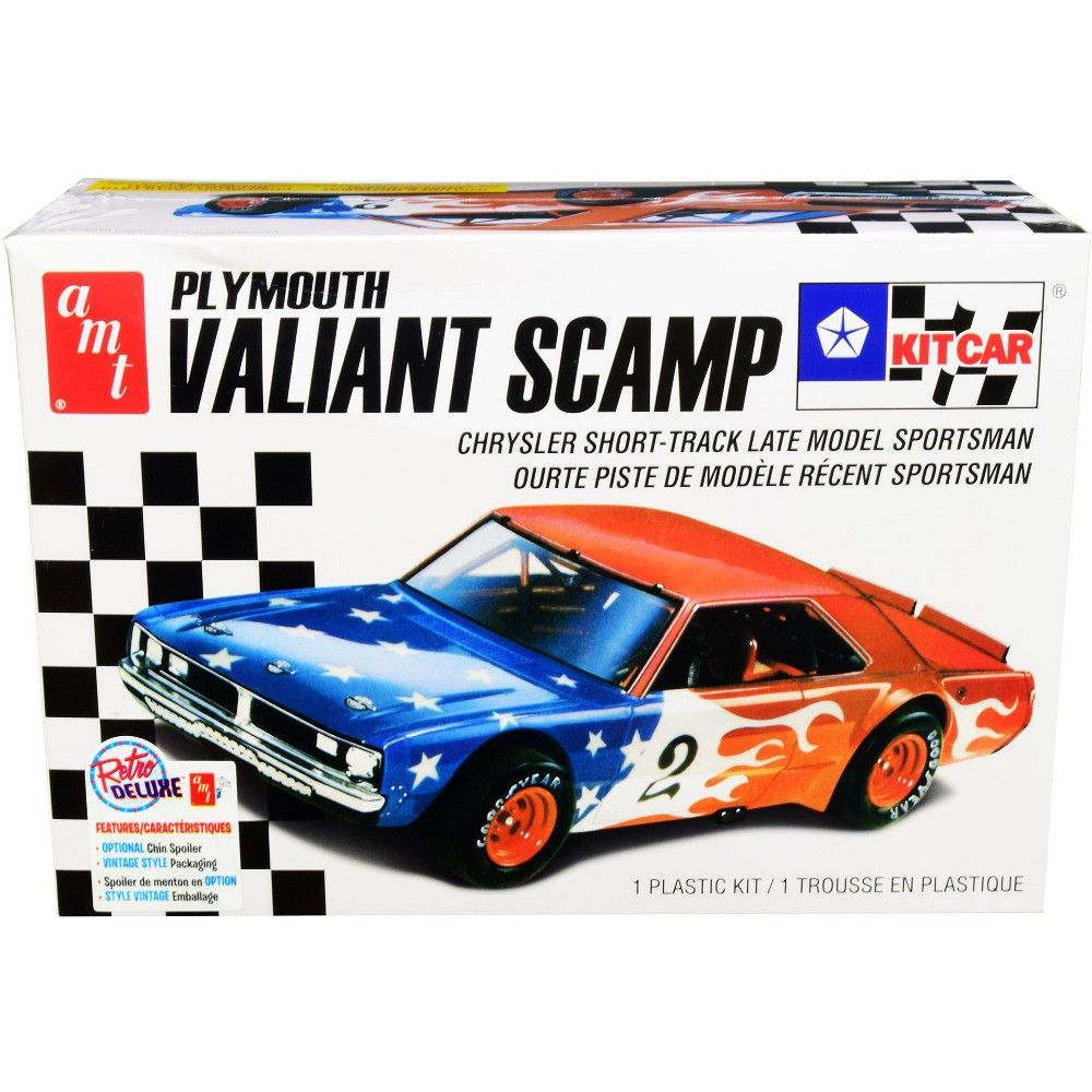 Skill 2 Model Kit Plymouth Valiant Scamp Kit Car 1 25 Scale Model By Amt In 2020 Plymouth Valiant Plastic Model Kits Kit Cars