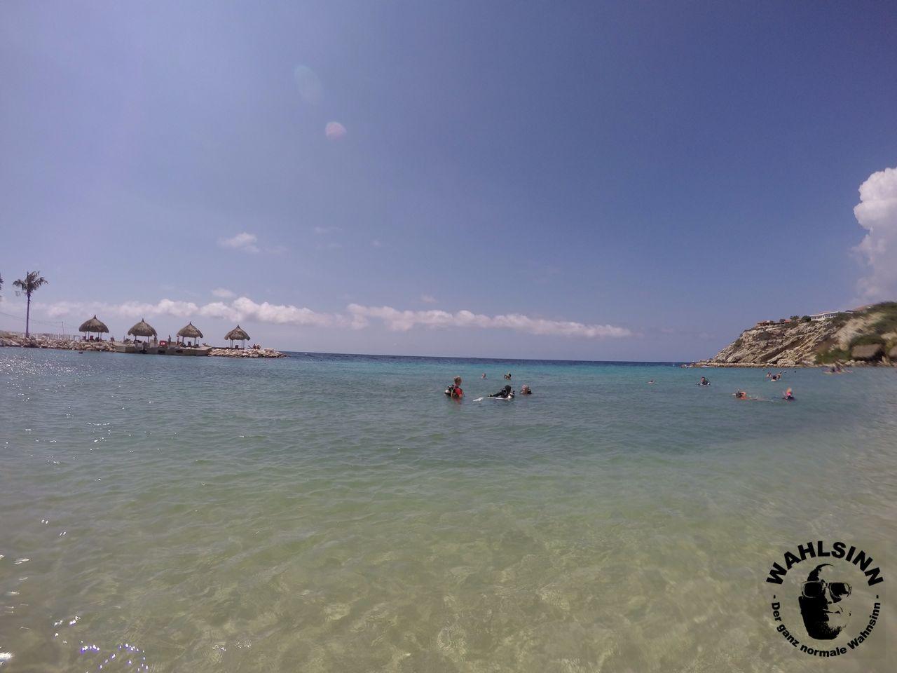 Curacao - flach abfallende Sandstrände ermöglichen maximalen Badespaß auf Curacao