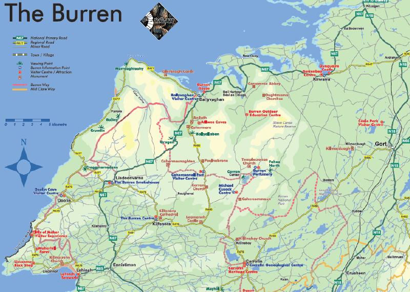 Map of The Burren | IRISH LOVE | Ireland, Scotland, Map