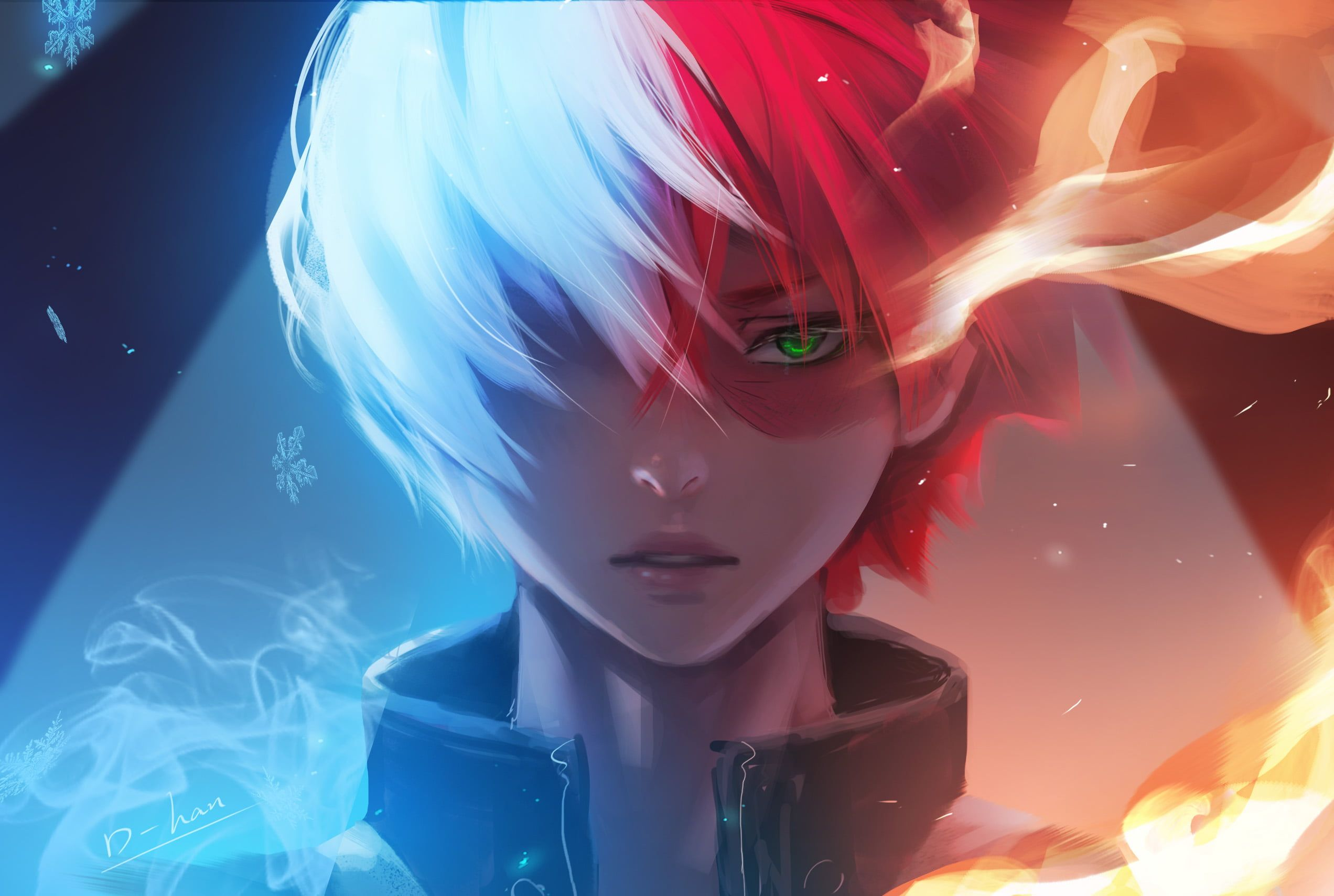 Anime My Hero Academia Boy Face Green Eyes Shoto Todoroki Two Toned Hair 1080p Wallpaper Hdwallpaper Desktop Dubstep Anime Dubstep Music