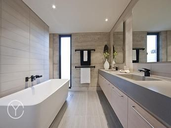 Photo Gallery For Website Photo of a modern bathroom design with spa bath using ceramic from the bathroom galleries Bathroom photo Browse hundreds of images of modern bathrooms