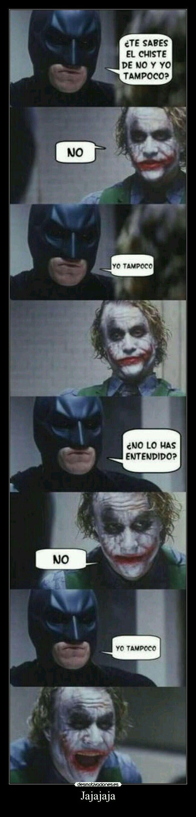 Joker Y Batman No Y Yo Tampoco Meme Gracioso Memes Divertidos Meme Divertido