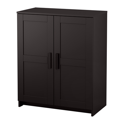 Ikea Brimnes Cabinet With Doors Black Adjule Shelves So You Can Customize Your Storage As Needed