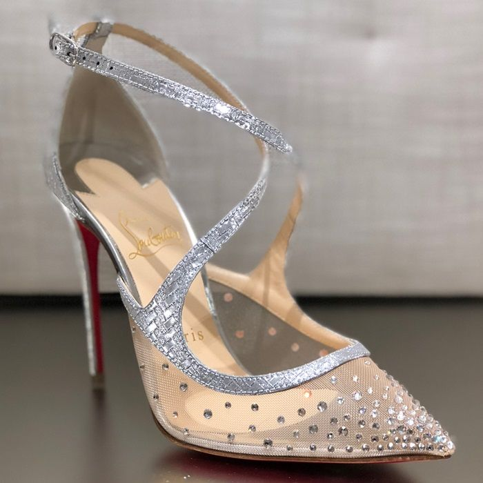 565c0711a6e Twistissima Strass Silver Heels. Find this Pin and more on Christian  Louboutin Shoes ...