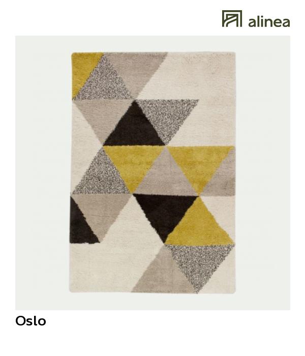 Alinea Oslo Tapis 160x230cm Motifs Geometriques Jaune Tapis