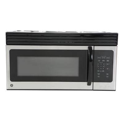 Ge Ge Black On Stainless 1 6 Cf Over The Range Microwave Oven Jvm1630spc Jvm1630spc Home Depot Canada 278 Four Micro Onde Hotte Integree Micro Onde