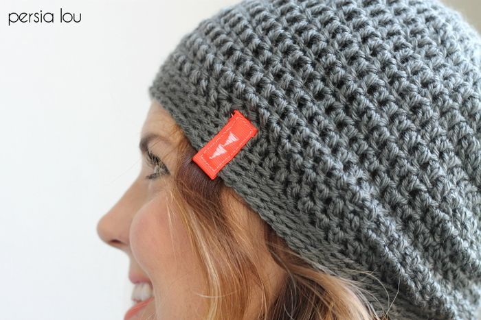 Simple Slouch Crochet Hat Pattern | Ganchillo, Modelo y Gorros