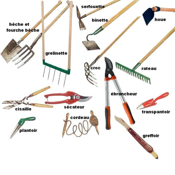 outils de jardin pour jardinage bio | Outils jardinage ...