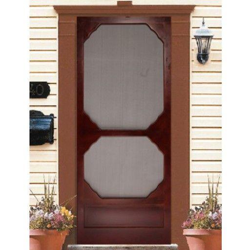 Wood Screen Door Cappuccino 36x80 Wood Screen Door Wooden Screen Door Screen Door