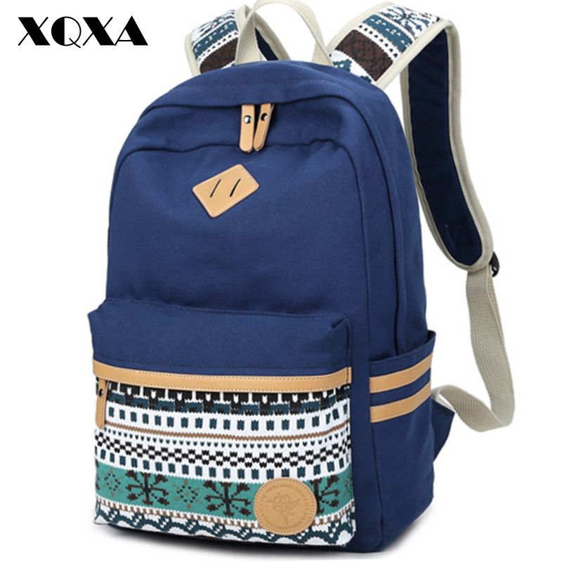 AOLIDA Laptop Backpack Women Bag For Teenage Girls School Student Bags  Casual Fashion Women Backpack Canvas Luxury Brand 2017 628a3ef88d68f