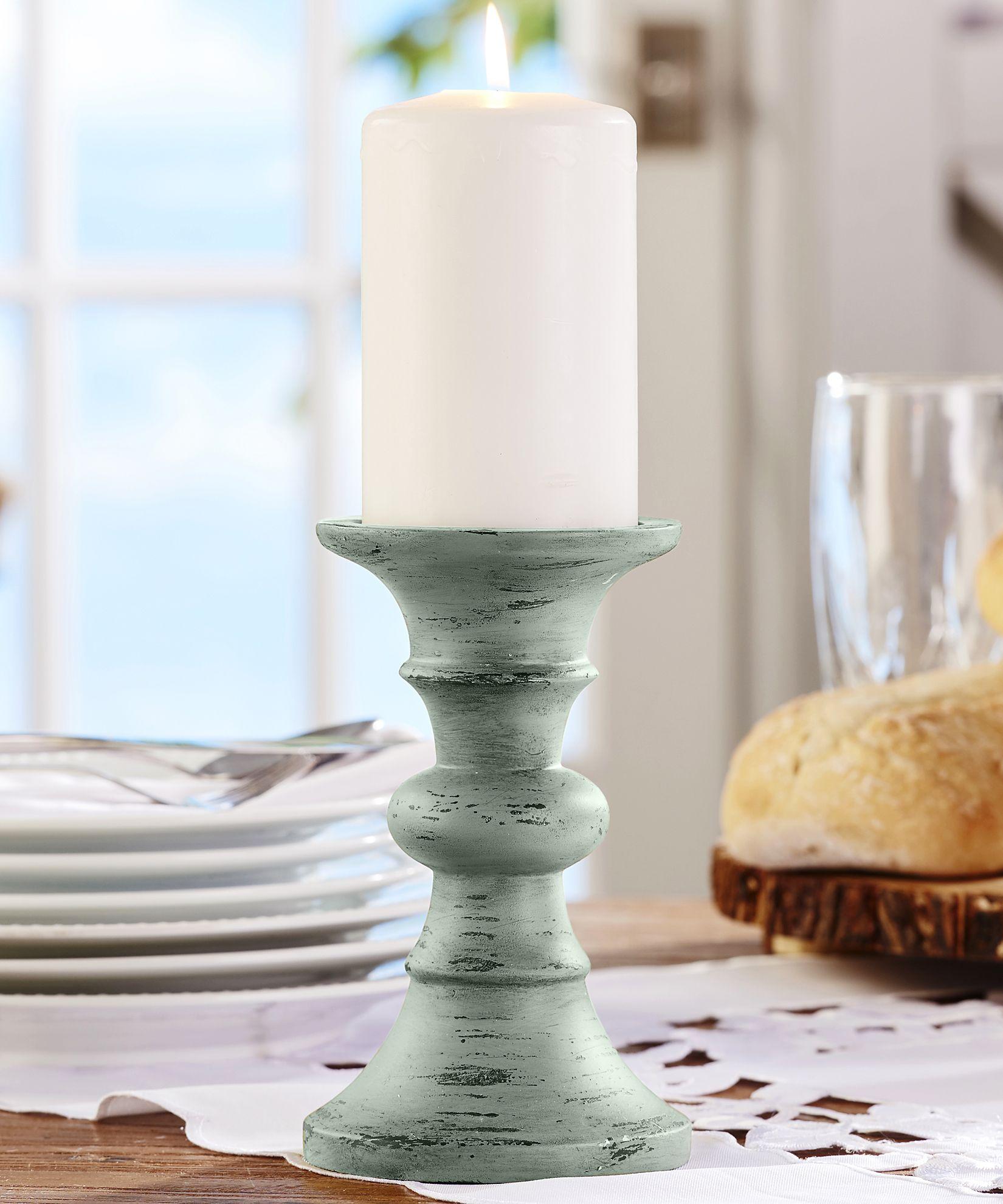Giftcraft polyresin pillar candle holder grey gift craft
