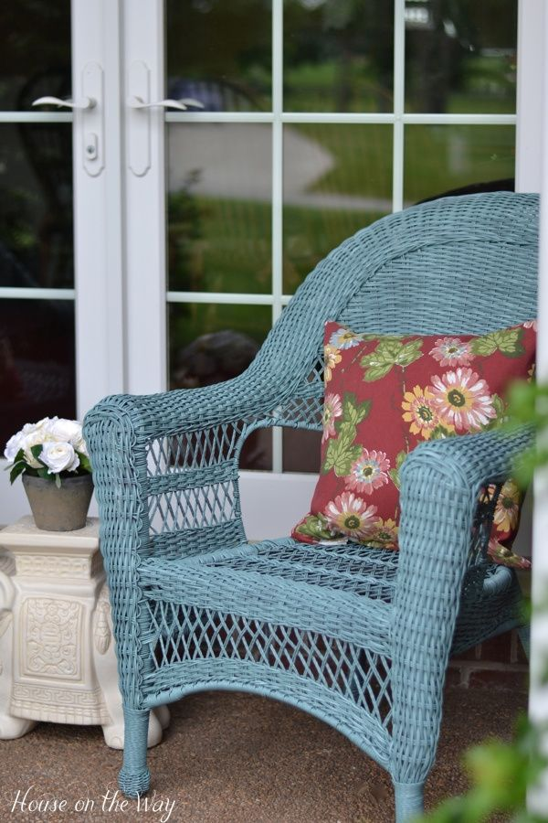 colorful front porch wicker chairs outdoor decor and living rh pinterest com