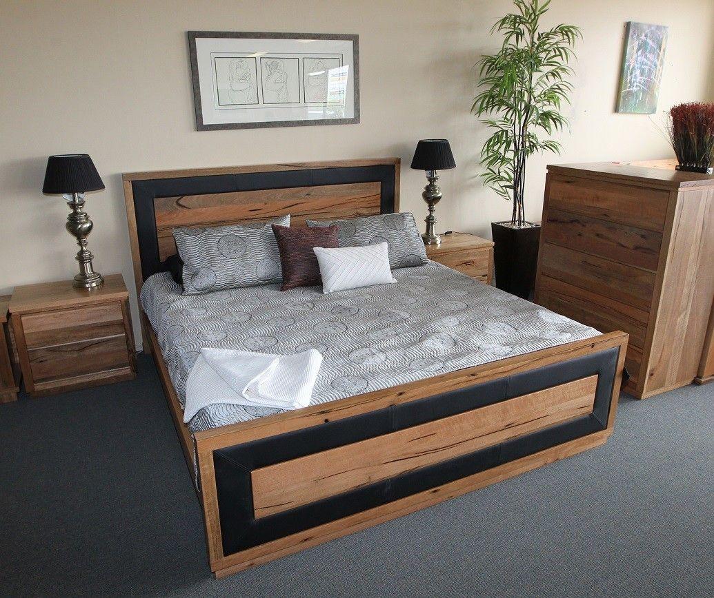 New York Marri Timber Queen Bed Furniture Bedroom Furniture Bed