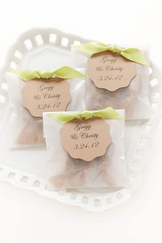 Best Seller Fleur de Sel Caramel Wedding Favors in Eco Friendly ...
