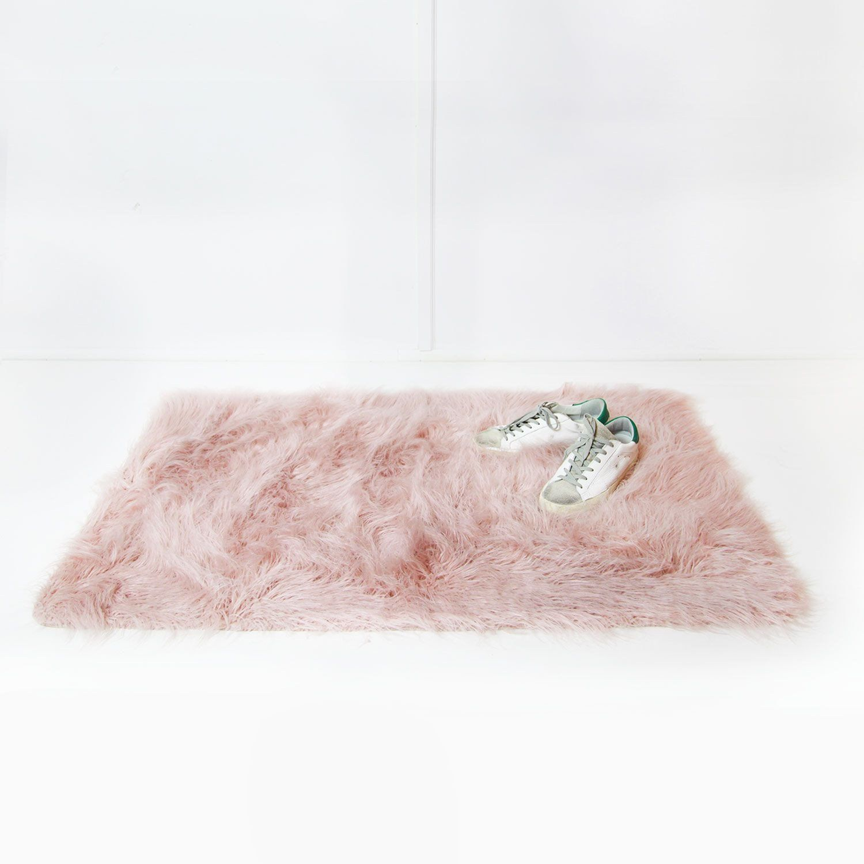 faux mongolian rectangle scatter rug rose smoke dormify room decor rh pinterest de