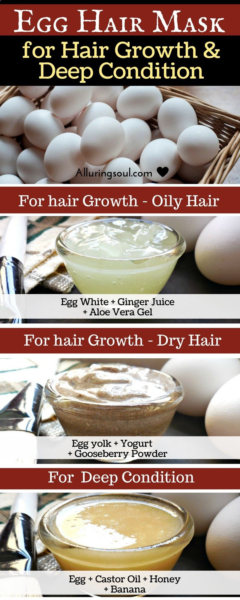 Hair Mask - Egg mask for hair is an effective way to nourish your scalp and also get a healthy hair growth. It conditions hair deeply and make it silky smooth and strong.
