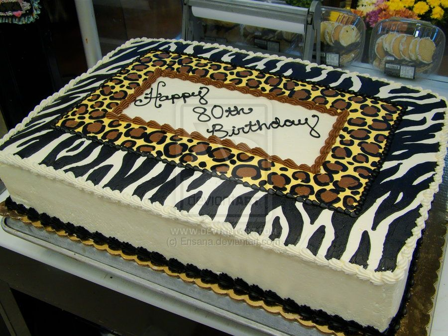 Cheetah Print Cakes Animal Print Birthday Cake By Erisana On