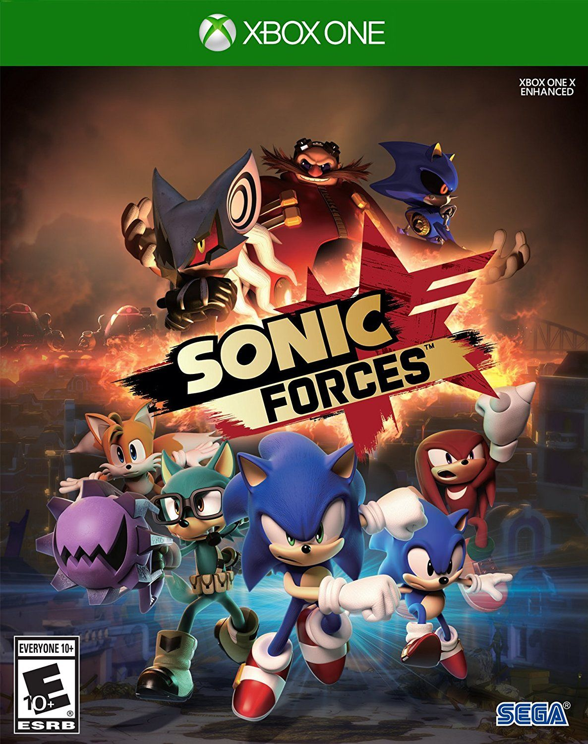 Sonic Forces Game Cover Xbox One Standard Video Games