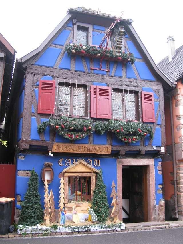 Niedermorschwihr, Alsace ~ Christmas decoration