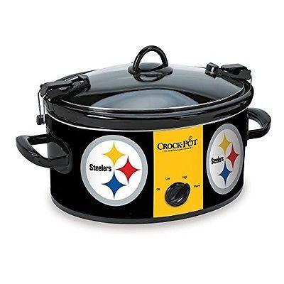 Delightful NFL Crock Pot Kitchen Accessories Steelers Football Slow Cooker Pittsburgh
