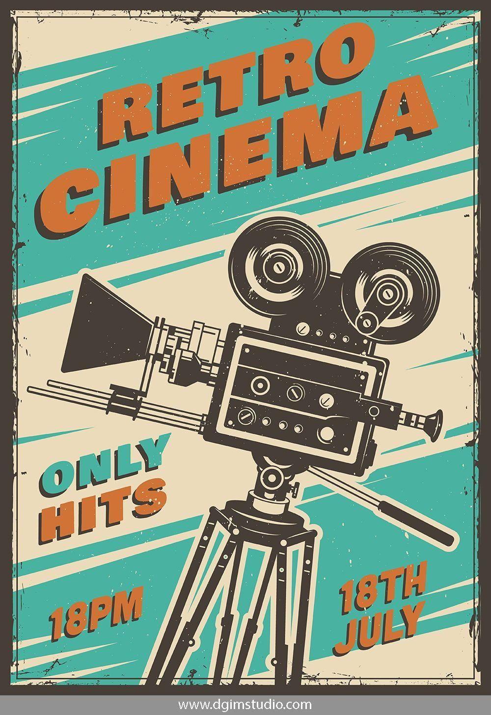 Vectorillustration Vector Illustration Design Dgimstudio Cinema Film Movie Camera Colorful C Di 2020 Sejarah Kuno Fotografi Tempo Dulu Kertas Dinding
