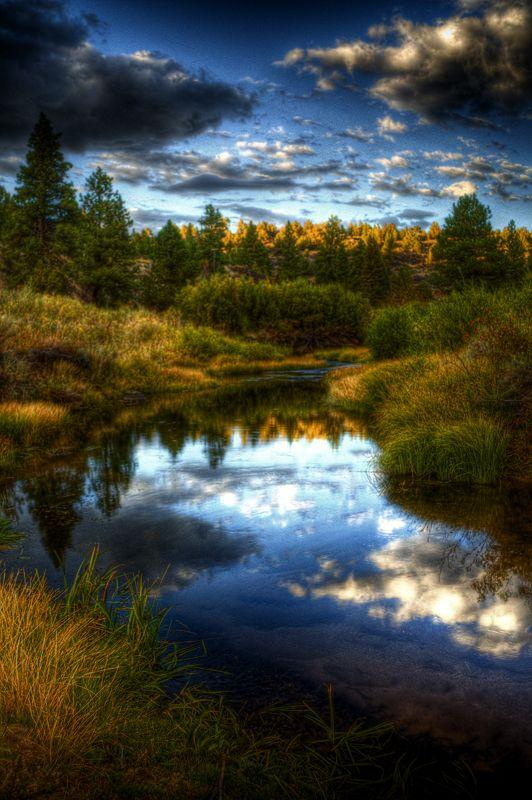 Blue Creek  by ~Visually-Verdant  Nice rich exposure...