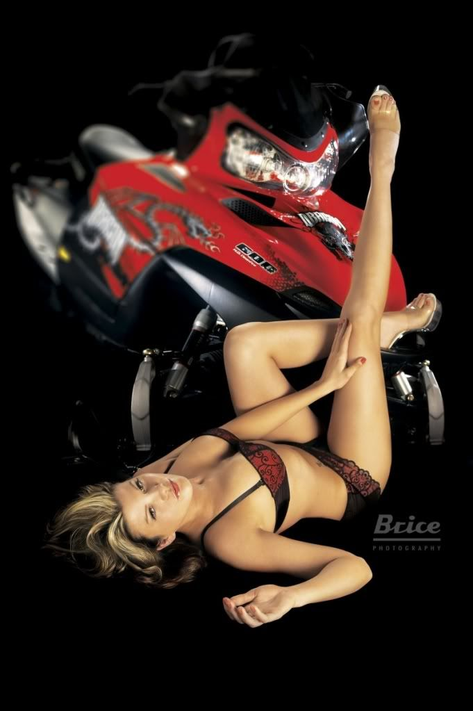 naked girls and snowmobiles