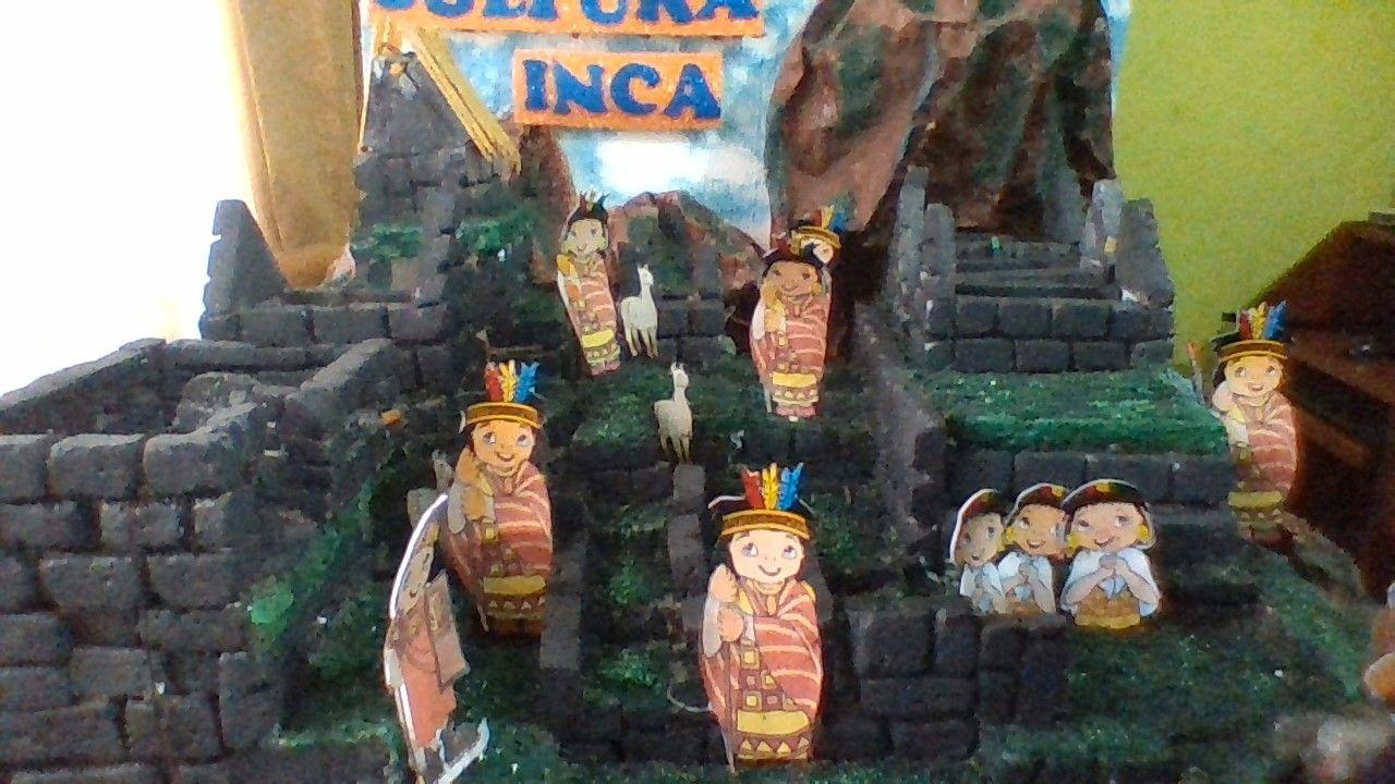 Maqueta De La Cultura Inca Machu Picchu Con Tallado De