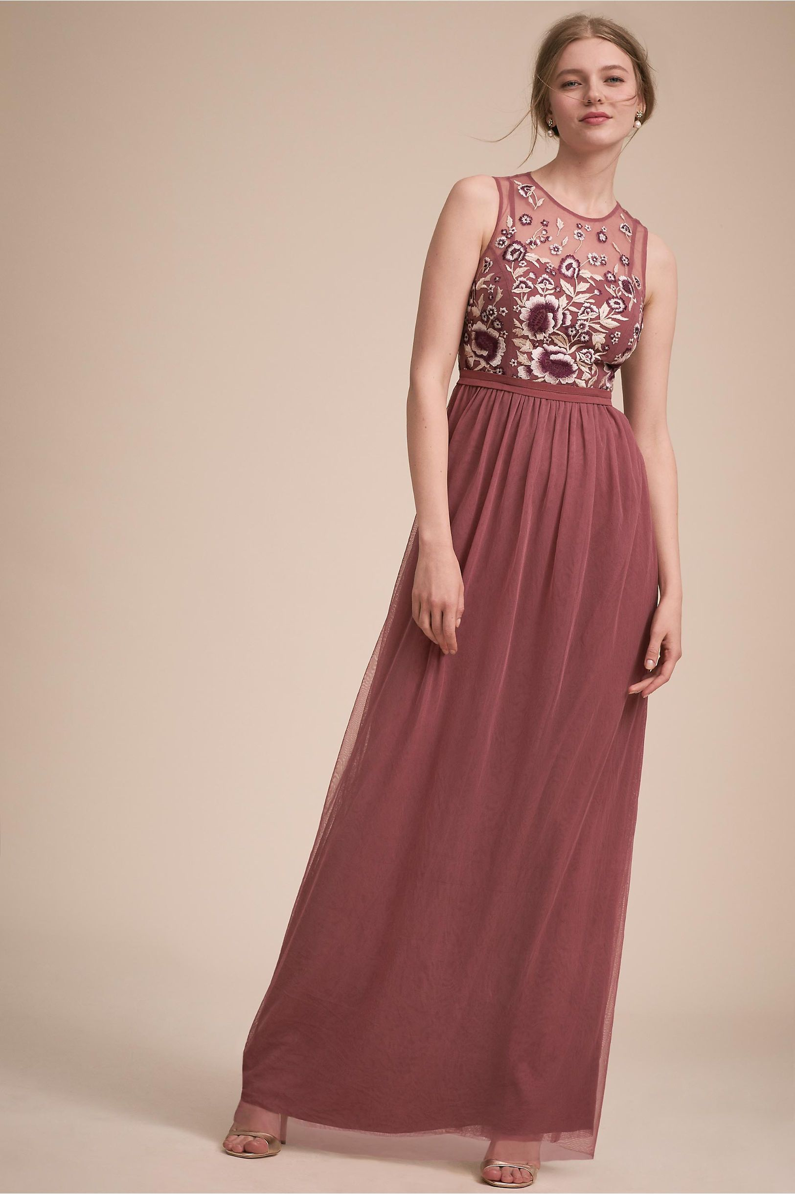 Best wedding dresses for big busts  BHLDNus Baldwin Dress in Cinnamon Rose  Shop the look products
