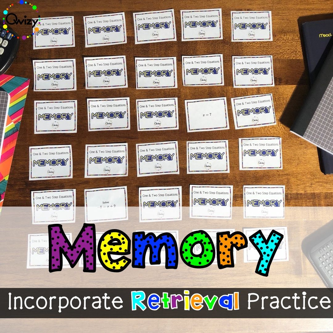 Math Memory Games For The Classroom In