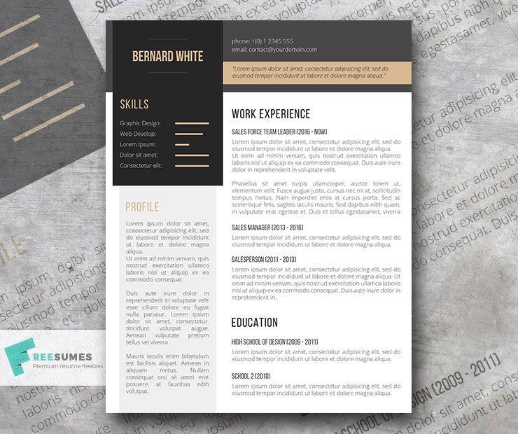Simplexing Free Modern Resume Template Simple Resume Template