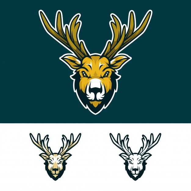 Angry Deer Head Mascot Logo