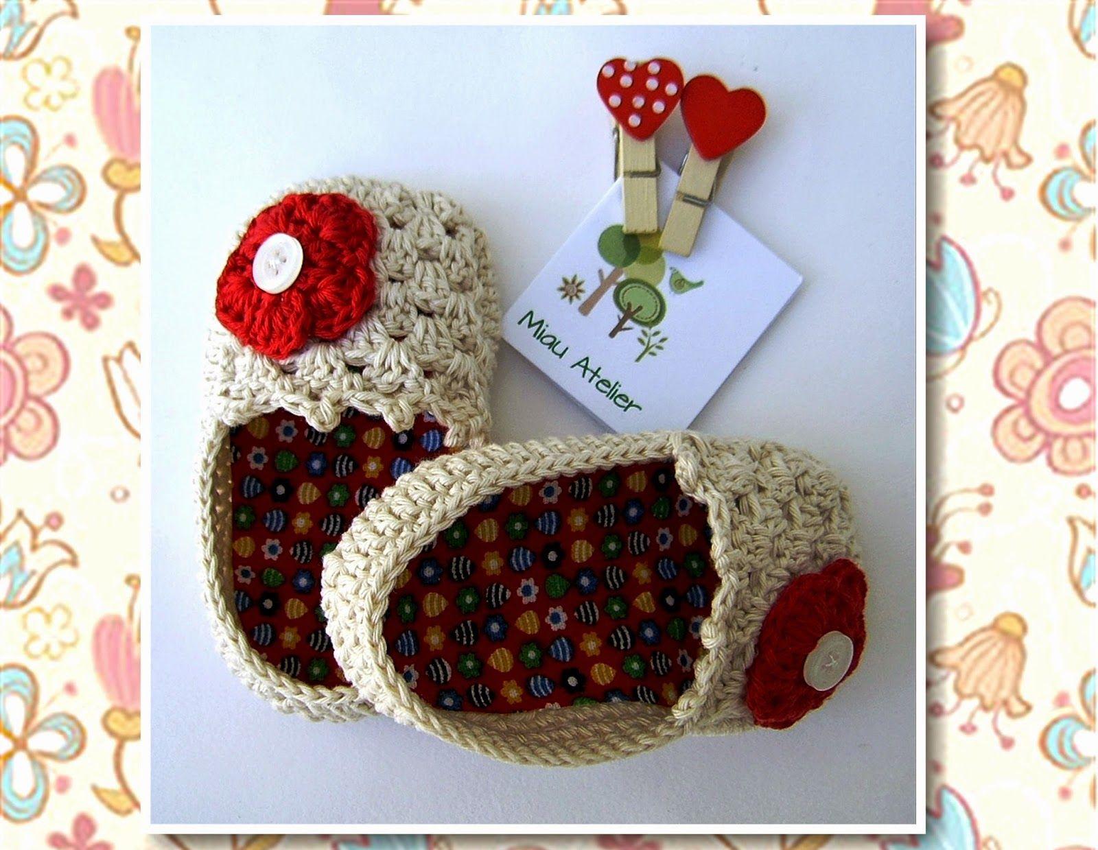 Miau Atelier: Workshop: Sapatinho em crochê para bebê ( 3 a 6 meses)