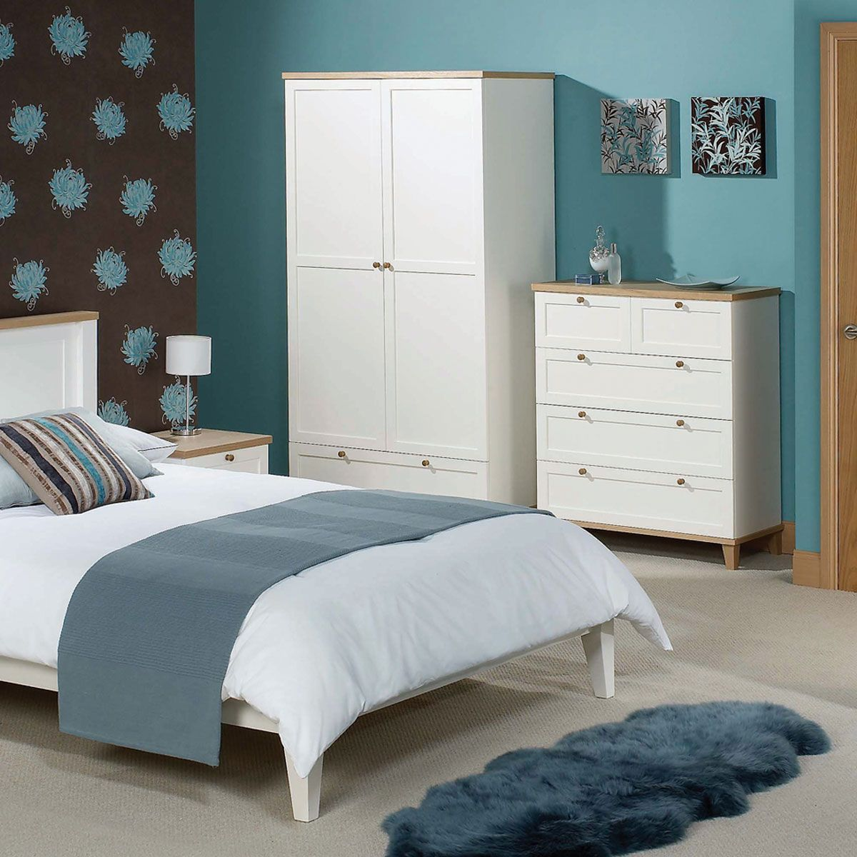 Brooklyn Wardrobe in White & Ash MFI (With images) White