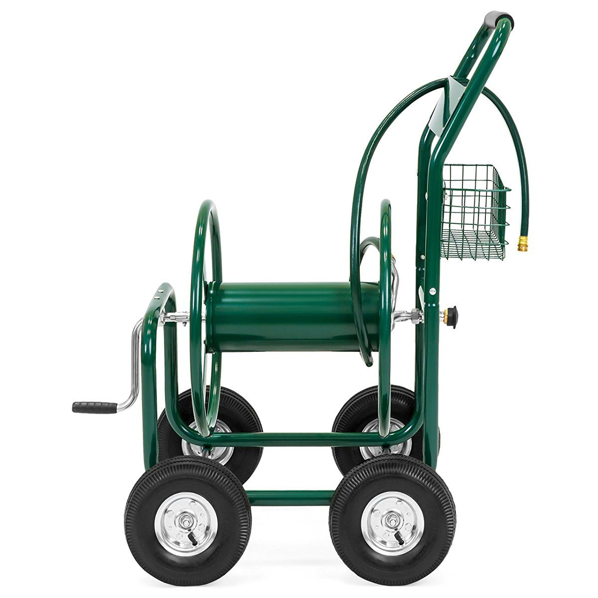 Best Choice Products Water Hose Reel Cart 300 FT Outdoor Garden ...